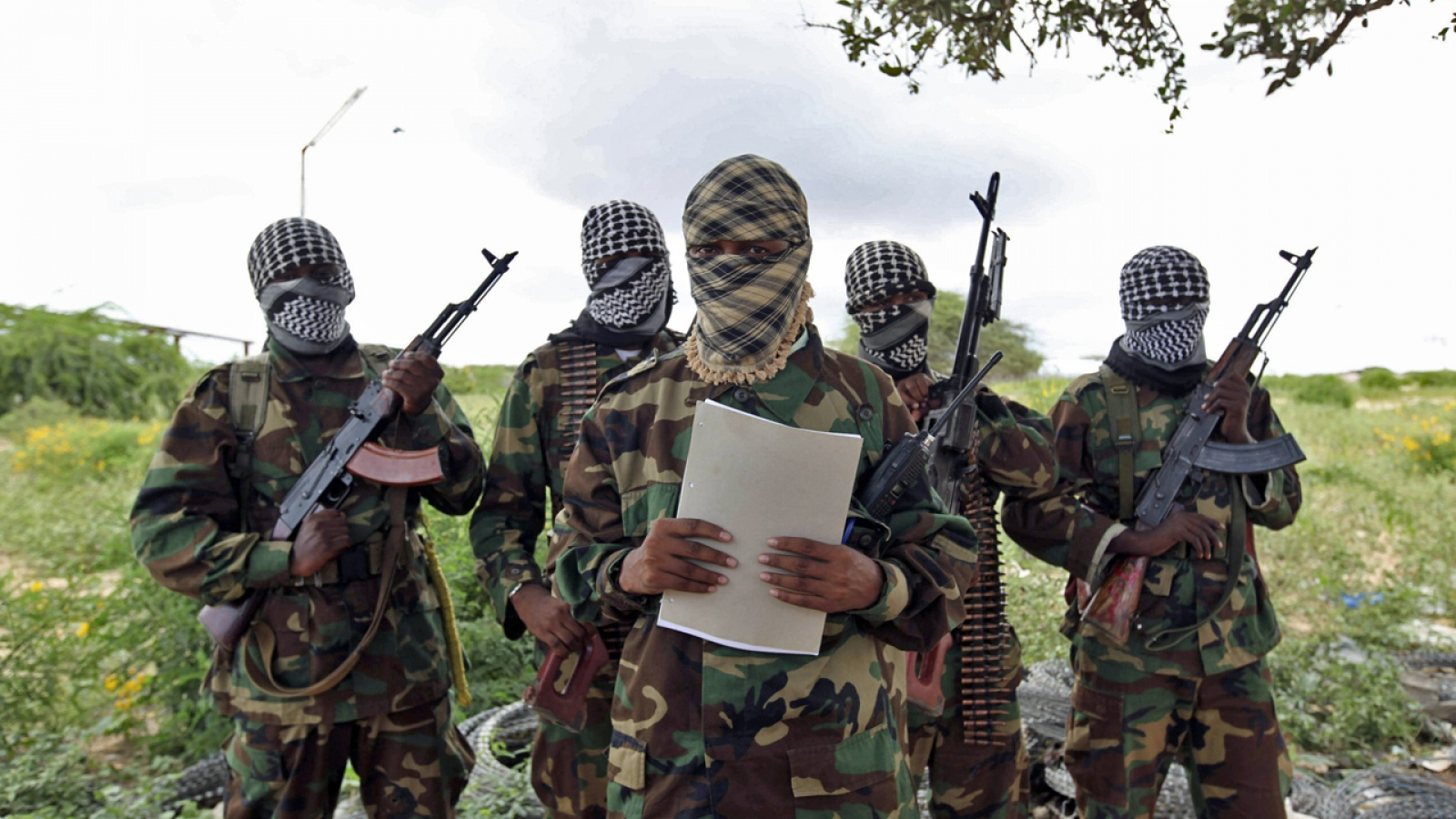 File photo: Alshabab military spokesman Abu Musab making statement