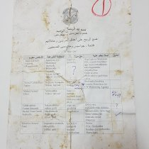 A copy of classified document from Alshabab.